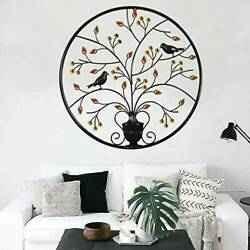 24.4#x27;#x27; Tree of Life Hanging Wall Metal Art Round Hanging Sculpture Home Decor US $38.99