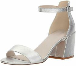 Kenneth Cole New York Womens Hannon Vinyl Fabric Open Toe Silver Size 7.0 EjNb $19.99