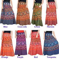 Maxi For Women Long Skirt Animal Print Wrap Around Sarong Boho Skirt 40 length $24.14