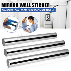 3D Mirror Wall Sticker Square Shape Self adhesive Home Bedroom Wall Decor $12.79