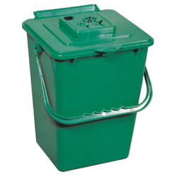 2.4 gal. Outdoor Waste Container Kitchen Trash Compost Recycling Bin Bucket $24.99