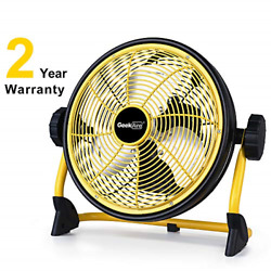 Rechargeable Outdoor High Velocity Floor Fan 10 Portable Battery Operated Fan $116.33