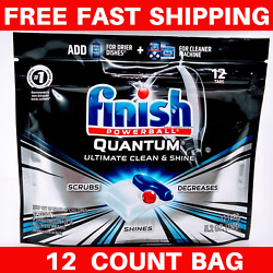 Finish QUANTUM - Degreaser Clean Shine Scrubs Tough Messes 12 ea (Pack of 1) $13.99