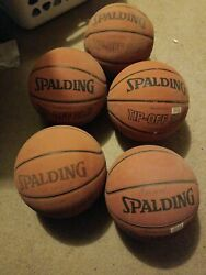 5 Spalding Official Junior Size TIP OFF Basketball w Durable Cover Size: 28.5quot; $20.00