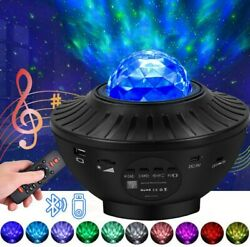 Bluetooth USB LED Galaxy Projector Starry Night Lamp Star Projection Night Light $34.99