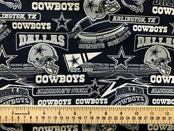 Dallas Cowboys 100% Cotton Fabric  *** New Updated Print**** Just Released $19.99