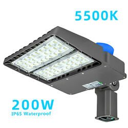 200W LED Parking Lot Light Commercial Outdoor IP65 Shoebox Street Pole Lamp $9.50