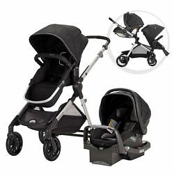 Evenflo Pivot Xpand Stroller amp; SafeMax Infant Car Seat System Black Open Box $313.45