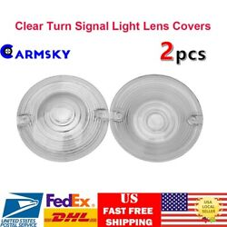 2PCS Turn Signal Light Clear Lens Cover For Harley Touring Road King Glide White $9.91
