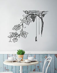 Grape Vine Floral Vinyl Wall Decal Sticker for the Kitchen. #276 $24.95