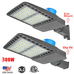 200 300W LED Parking Lot Light Commercial Outdoor IP65 Shoebox Street Pole Lamp