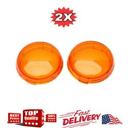 2* Turn Signal Light Amber Lens Cover For Harley Touring Road King Glide Yellow $6.64