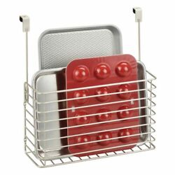 mDesign Metal Over Cabinet Hanging Kitchen Storage Basket Holder Satin $17.99