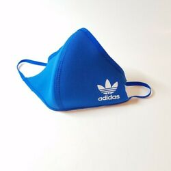 Adidas Face Cover Mask Blue Adult Size M  Large - Ships Immediately!  $17.99
