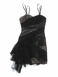 BCBGMAXAZRIA Runway Women Black Cocktail Dress 0