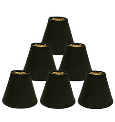 Royal Designs – 6quot; Hardback Empire Chandelier Lamp Shades – Black $39.95