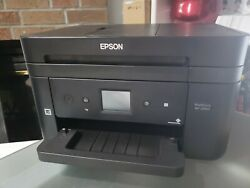 Used Epson WorkForce WF-2860 Wireless Color All-In-One Printer Copy Scan Duplex $30.00