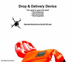 DJI Phantom 3 Dropper. payload release for drone fishing amp; rescue missions $120.00
