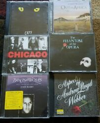 Cats Phantom of the of opera Chicago Dances with wolves Out of Africa lot $8.50