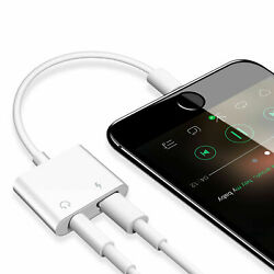For iPhone 11 X Xs MAX XR 7 8 Plus 3.5mm Aux Audio Charge Adapter Cable Dongle $6.99