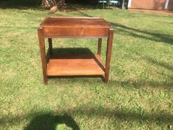 Vintage Wooden Table Stand With Bottom Shelf $29.95