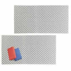 mDesign Plastic Kitchen Farmhouse Sink Protector Mat X Large 2 Pack Gray $16.99