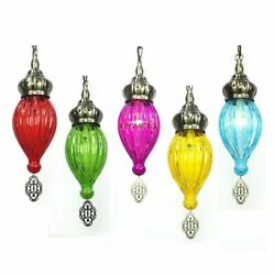 Colorful Pendant Glass Lights Home Interior Decorative Fixtures Minimalist Lamps