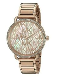 Michael Kors (MK3887) Portia Rose Gold Tone Stainless Steel Watch $92.00