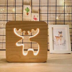 Emergency Table Wooden Lamps Cute Design Home Desk Decoration And LED Lampshades $96.29