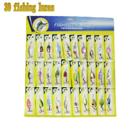 Lot of 30 Trout Spoon Metal Fishing Lures Spinner Baits Bass Tackle Colorful NEW $16.38