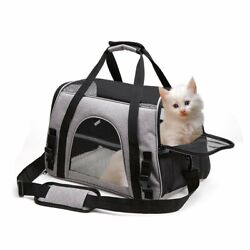 Pet Carrier Bag Soft Sided Travel Crate Puppyamp;Cat Comfort Tote Airline Approved $26.99