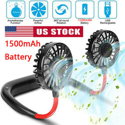 Portable USB Rechargeable Lazy Fan Hanging Neck Mini Cooling Sports Rest Fan US $11.68