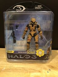Mcfarlane Halo 3 Reach Video Game Action Figure Tan Spartan Scout With BR NIB $11.50