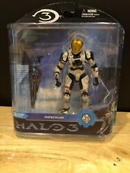 Mcfarlane Halo 3 Reach Video Game Action Figure White Spartan EVA Sniper NIB $6.00