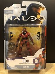 Mcfarlane Halo 3 Reach Video Game Action Figure Red Spartan EOD Dual SMG NIB $9.50
