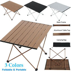Folding Outdoor Portable Aluminum Table Lightweight Camping Picnic Fishing +Bag $32.79