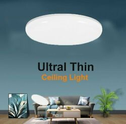 24W Round LED Ceiling Down Light Panel Flush Mount Kitchen Bedroom Fixture Lamp