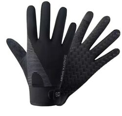 Workout Gloves Full Finger Protection Hand Grip Gym Gloves Weight Lifting XL $11.99