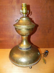 Antique Lamp UNIQUE HTF BECK IDEN NY Acetylene CONVERTED ELECTRIC Brass Bronze $199.95