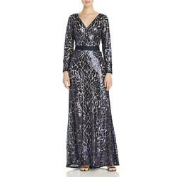Tadashi Shoji Womens Sequined V-Neck Formal Evening Dress Gown BHFO 5806