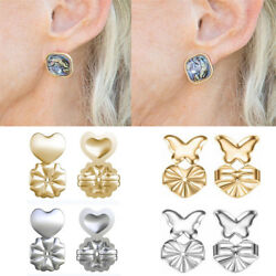 4Pcs Magic Earring Backs Lifter Support Lifts Hypoallergenic Sliver Gold Gift $6.45