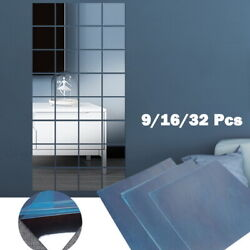 3D DIY Home Mirror Wall Stickers Decal Acrylic Art Stickers Wall Decor Removable $8.09