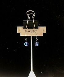 silver 9.25 ear wire earring with swarovski parts Crystal aurore bóreale 9.25 s $8.99
