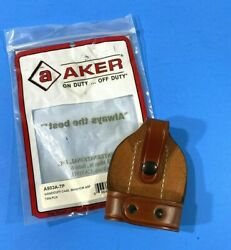 NWT AKER HANDCUFF CASE BIKINI FOR ASP A503A TP TAN LEATHER $19.99