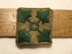 ORIGINAL 4th INFANTRY DIVISION THEATER MADE & 4 CORNERS FOLDED OVER SEE PICTURES $10.00