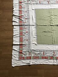 Vintage Mid Century 50s 60s Brutalist Table Cloth $25.00