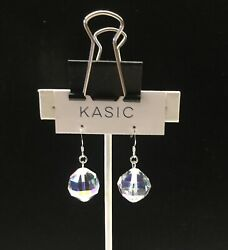 silver 9.25 ear wire earring with swarovski parts Crystal vintage 9.25 stamp $9.99