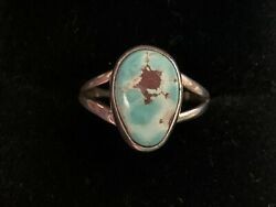 Vintage Vernon Begay Navajo Native American Turquoise & Sterling Silver Ring 8.5