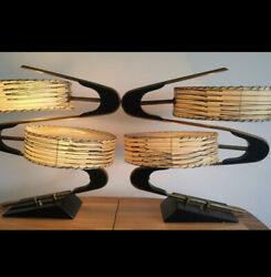 MAJESTIC Z LAMP VINTAGE RARE MID-CENTURY TABLE LAMPS (SOLD AS PAIR) $2,450.00