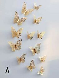 Wall Butterfly Stickers 3d Home Decor Art Home Decor Sticker 12pcs Removable $12.99